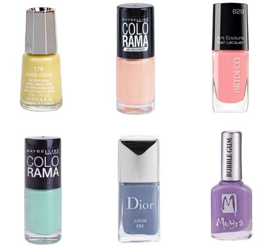 Májová inšpirácia: TOP 6 pastelových lakov na nechty